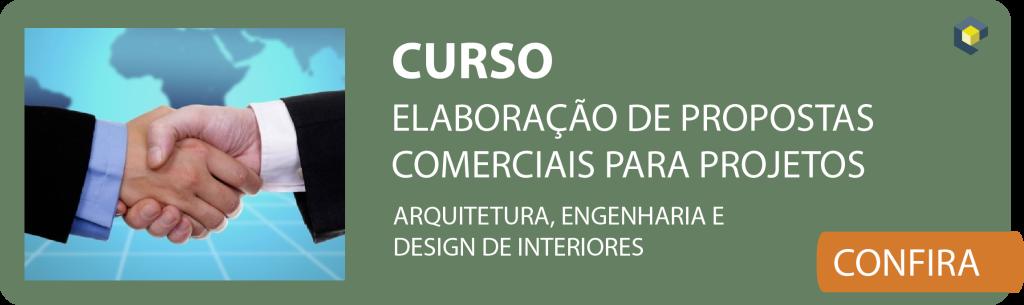 Curso Elaboração de propostas comerciais para projetos de arquitetura, engenharia, design de interiores.